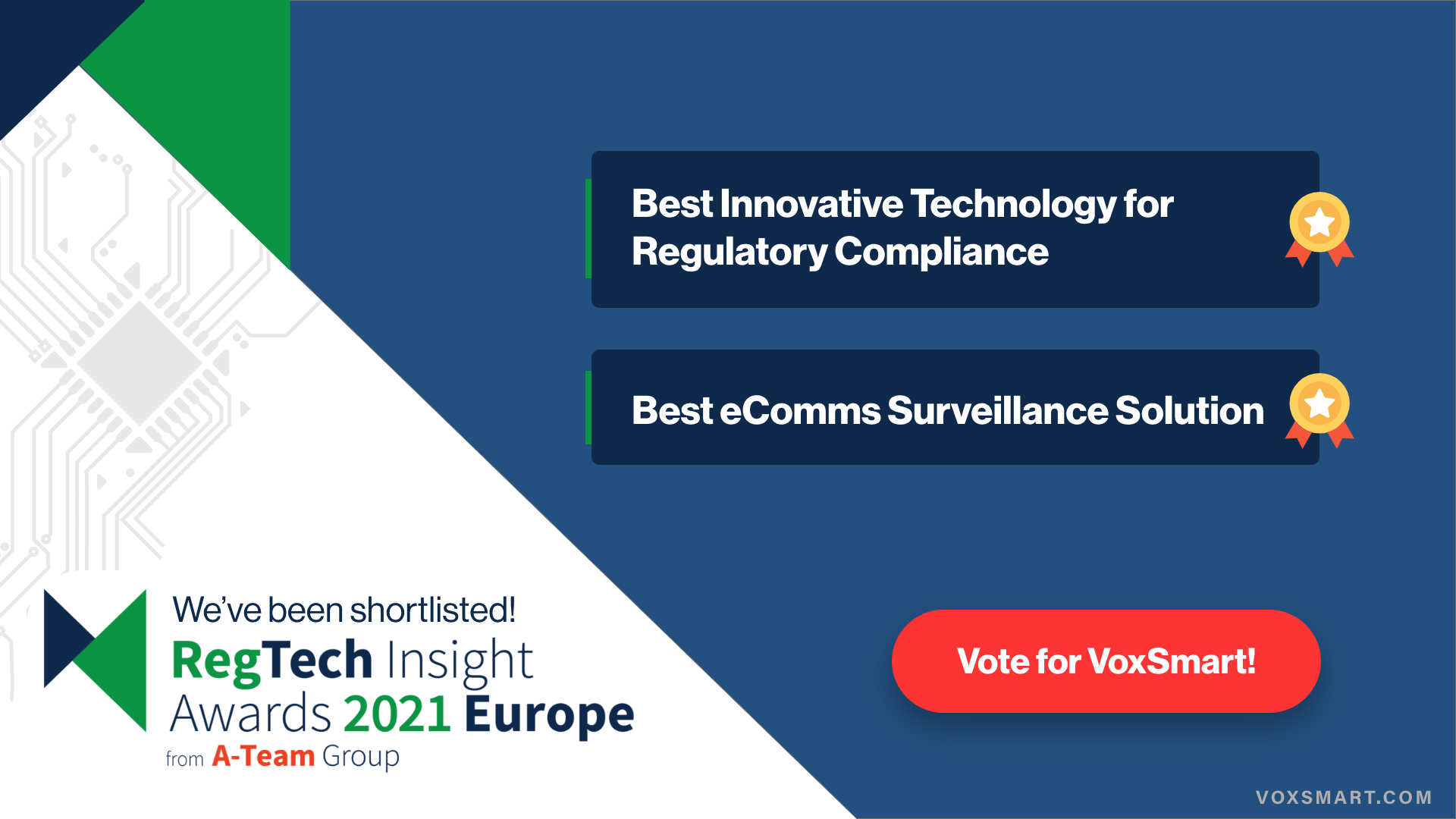 It's awards season and VoxSmart makes the shortlist!