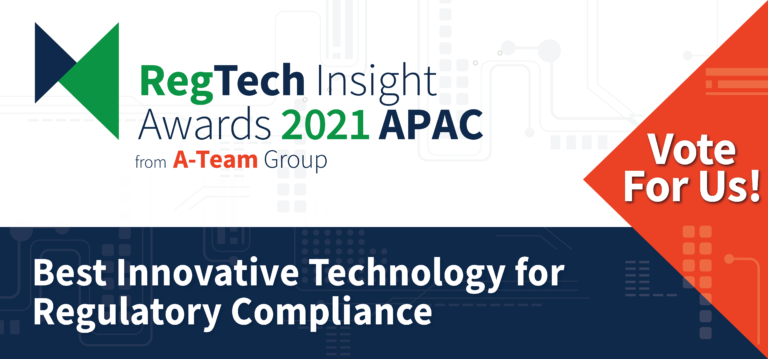 VoxSmart are shortlisted for two awards in the inaugural RegTech Awards APAC