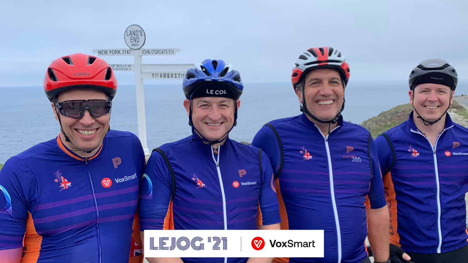 VoxSmart CCO cycles LEJOG to raise money for Shine Cancer Support